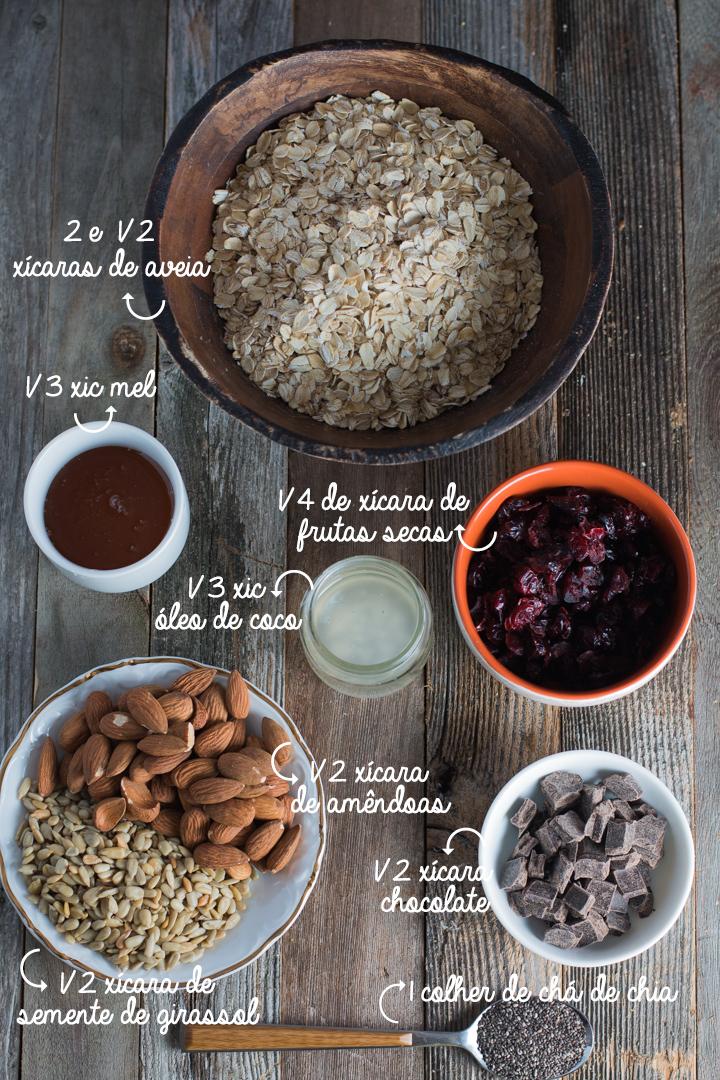 barrinha de cereal ingredientes